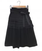 tricot COMME des GARCONS(トリココムデギャルソン)の古着「ラップスカート」 ブラック