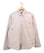 ()の古着「Jacquard Logos Denim Shirt/ジャガ」 ピンク