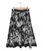 EPOCA(エポカ)の古着「フィオーレニットスカート」|ブラック×ホワイト
