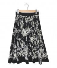 EPOCA (エポカ) フィオーレニットスカート ブラック×ホワイト サイズ:38