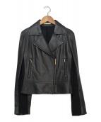 ()の古着「シープレザーライダースジャケット」|ブラック