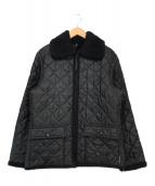 ()の古着「キルティング襟ボアジャケット」|ブラック