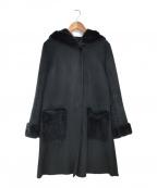 Unaca(アナカ)の古着「レッキスラビットファーフードコート」 ネイビー