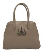 sunauna(スーナウーナ)の古着「Wタッセルハンドバッグ」 グレー