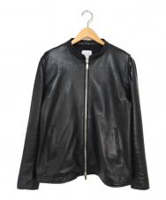 UNITED TOKYO (ユナイテッドトウキョウ) ラムレザーシングルジャケット ブラック サイズ:3