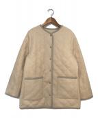 ()の古着「ボアキルトリバーシブルジャケット」 アイボリー