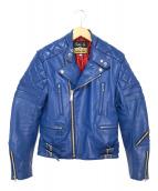 ()の古着「キルテットライダースジャケット」 ブルー