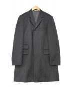 ()の古着「ステンカラーコート」|グレー