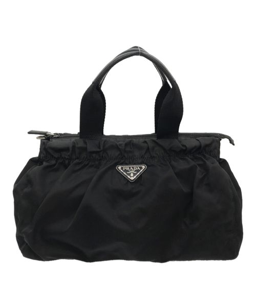 PRADA(プラダ)PRADA (プラダ) ナイロンハンドバッグ ブラックの古着・服飾アイテム