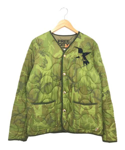 FREECITY(フリーシティー)FREECITY (フリーシティー) アーミーキルティングライナージャケット オリーブ サイズ:1の古着・服飾アイテム