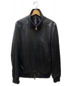 wjk(ダブルジェイケイ)の古着「leather rib truck jacket」 ブラック