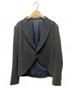Y's(ワイズ)の古着「ピークドラペルジャケット」|ブラック