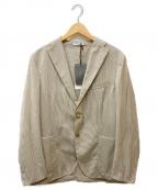 BOGLIOLI(ボリオリ)の古着「ウールストライプジャケット」 ベージュ