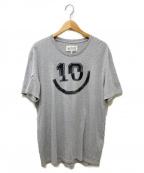 Maison Margiela10(メゾンマルジェラ10)の古着「切替プリントTee」|グレー