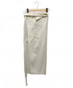 Little suzie(リトルスージー)の古着「ワンショルダーストラップサロンスカート」 ベージュ