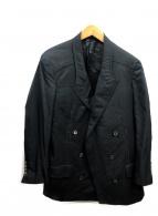 LANVIN(ランバン)の古着「再構築ダブルジャケット」|ブラック