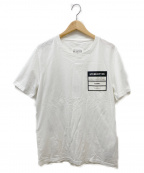Maison Martin Margiela(メゾンマルタンマルジェラ)の古着「ロゴパッチクルーネックTシャツ」|ホワイト