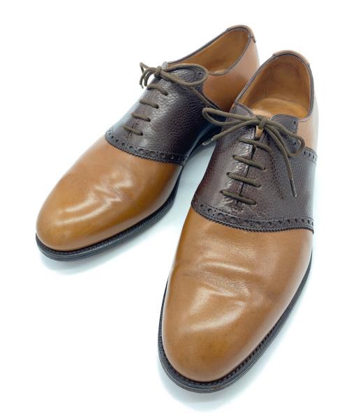 Edward Green(エドワードグリーン)Edward Green (エドワードグリーン) サドルシューズ ブラウン サイズ:SIZE 7E New&Lingwood別注 旧工場製の古着・服飾アイテム