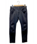 UNDERCOVER(アンダーカバー)の古着「刺繍サンダースキニーパンツ」|ブラック