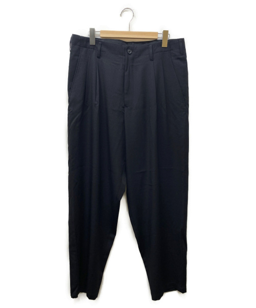 YohjiYamamoto pour homme(ヨウジヤマモトプールオム)YohjiYamamoto pour homme (ヨウジヤマモトプールオム) 2タックノーマルパンツ ブラック サイズ:4の古着・服飾アイテム