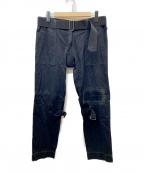 PEEL&LIFT(ピールアンドリフト)の古着「damaged bondage trousers」 ブラック