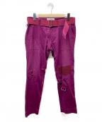 PEEL&LIFT(ピールアンドリフト)の古着「damaged bondage trousers」 ピンク
