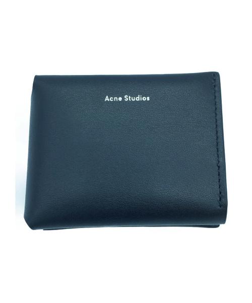 ACNE STUDIOS(アクネステュディオズ)ACNE STUDIOS (アクネステュディオズ) トリフォールドレザーウォレット ブラック 1368827の古着・服飾アイテム