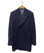 CDG JUNYA WATANABE MAN(コムデギャルソンジュンヤワタナベマン)の古着「ダブルプレストウールコート」|ネイビー