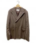 G.V.G.V(ジーヴィージーヴィー)の古着「Stretch Fit Blazer」|ブラウン