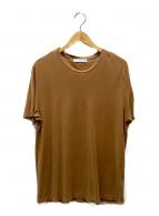 FILIPPO DE LAURENTIIS(フィリッポ・デ・ローレンティス)の古着「プレーンTシャツ」 ベージュ