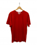 COMME des GARCONS SHIRT(コムデギャルソンシャツ)の古着「クルーネックカットソー」|レッド