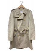 COMME des GARCONS SHIRT(コムデギャルソンシャツ)の古着「カットオフデザイントレンチコート」|ベージュ
