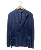 Cruciani(クルチアーニ)の古着「ダブルアンコンジャケット」|ネイビー