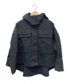 kei shirahata(ケイシラハタ)の古着「ショートマウンテンパーカー」 ブラック