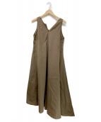 大草直子×martinique(オオクサナオコ×マルティニーク)の古着「両A面アシンメトリードレス」|ブラウン