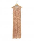styling/(スタイリング)の古着「バックジップレースドレス」|ピンク