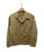 TAKEO KIKUCHI(タケオキクチ)の古着「開襟ジャケット」 ベージュ