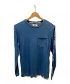 DEUS EX MACHINA(デウス エクス マキナ)の古着「長袖ポケットTシャツ」|ブルー