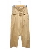 URU(ウル)の古着「HIGH WAIST BELTED PANTS」|ベージュ