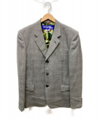 JUNYA WATANABE CDG(ジュンヤワタナベコムデギャルソン)の古着「裏地カモフラ3Bテーラードジャケット」|グレー