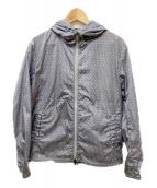 JIL SANDER(ジルサンダー)の古着「総柄ナイロンパーカー」|グレー