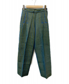 ISSEY MIYAKE(イッセイミヤケ)の古着「刺し子ステッチパンツ」|グリーン