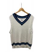 ()の古着「Line knit vest」|ホワイト