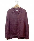 KIJI(キジ)の古着「オープンカラーシャツ」|ボルドー