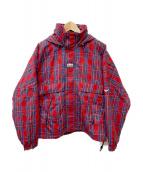NIKELAB(ナイキラボ)の古着「Plaid Swoosh Stripe Jacket」 レッド×ブルー