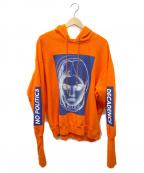 CHRISTIAN DADA(クリスチャンダダ)の古着「Oversized Bomber Hoodie」 オレンジ