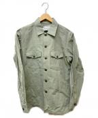 MINOTAUR(ミノトール)の古着「アーミーシャツジャケット」|カーキ