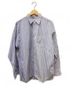 ALLEGE(アレッジ)の古着「ストライプシャツ」 ブルー