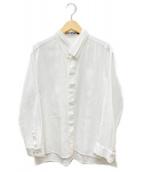 ISSEY MIYAKE(イッセイミヤケ)の古着「バンドカラーシャツ」 ホワイト