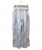 TARO HORIUCHI(タロウホリウチ)の古着「総柄パンツ」 スカイブルー